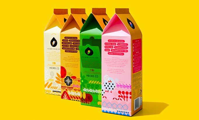 Hummingbird Colorful Package Design