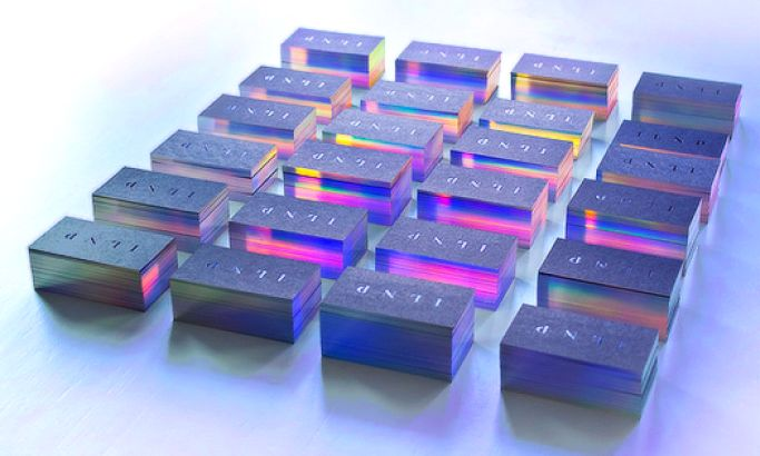 ILNP's Shimmering Business Cards Use Holographic Elements To Excite Clients