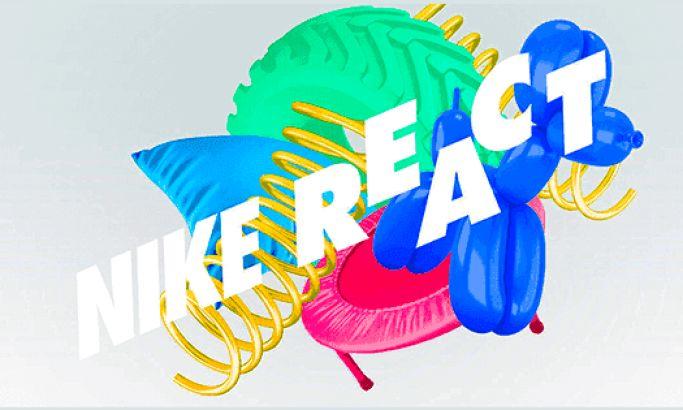Nike React Playful Web Design