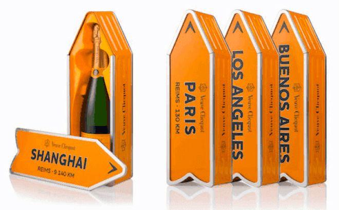 Veuve Clicquot's Surprising Champagne Boxes Use A Unique Shape To Entice Consumers