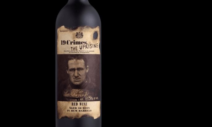 19 Crimes Wine Package Design