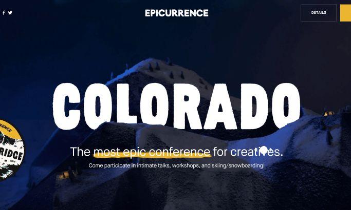 Epicurrence website design