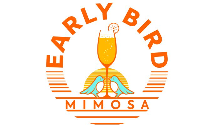 Early Bird Mimosa Logo Design