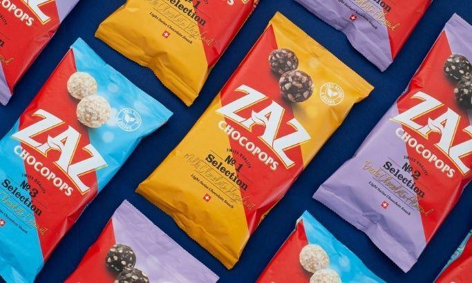 ZAZ Chocopops package design