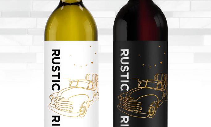 Rustic Ridge Vineyards package design by Lien Design