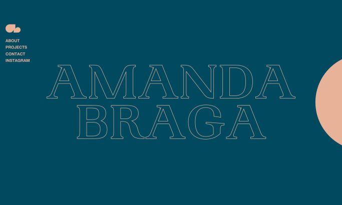 Amanda Braga website design by Cappen