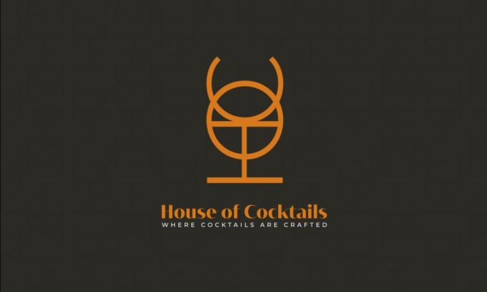 The House Of Cocktails Logo Design