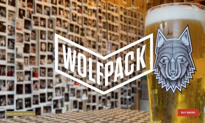 Wolfpack website design homepage