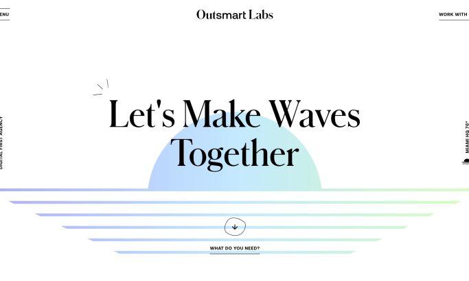 Outsmart Labs Website Design Homepage