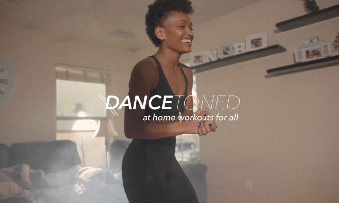 Dance Toned Video Design Motivates Viewers With An Energetic And Exciting Exercise Reel