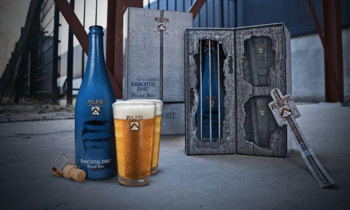 Alfa Beer package design by Brand Junkies