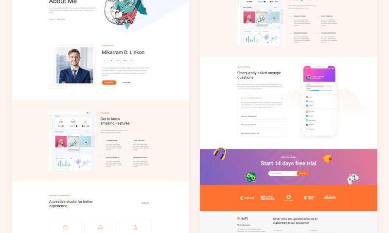 UPQODE - Isoft - SaaS, Software & Startup WordPress