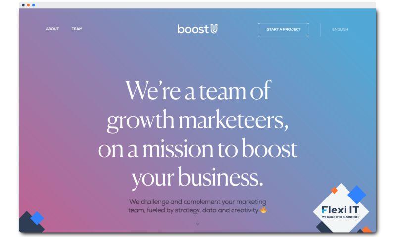 Flexi IT - BoostU - Website for the Digital Marketing Company