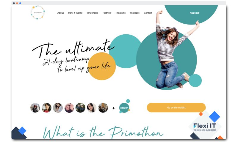 Flexi IT - Primothon - Website for Women Who Want to Find a Balance in Their Life