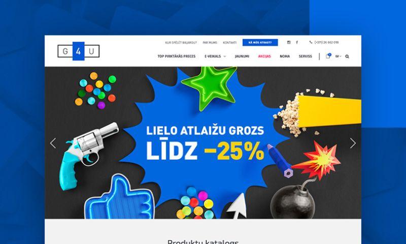 SMARTi - SMARTi has developed an e-commerce website for a Latvian retailer of entertainment goods.