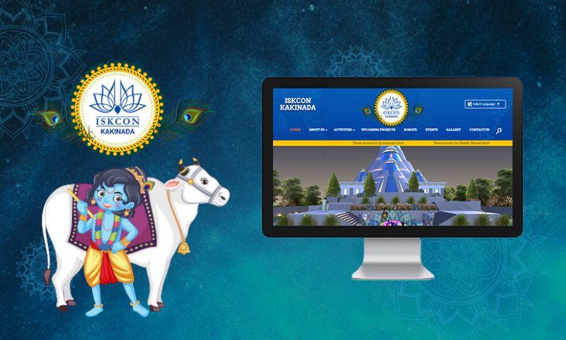 Krify Software Technologies Pvt. Ltd. - Iskcon Kakinada Temple Website