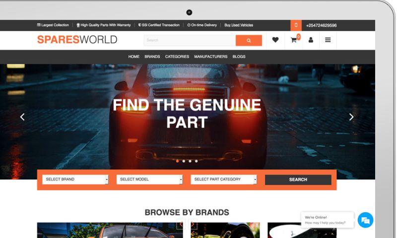 Aaalpha - Spares World - Ecommerce Marketplace