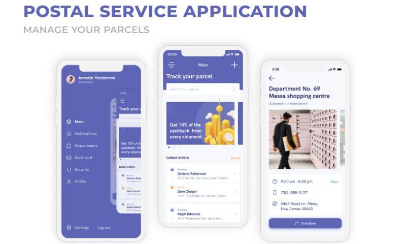 2muchcoffee - Postal Service Application