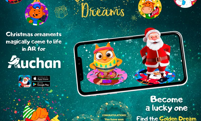 Live Animations - Auchan Christmas Dreams