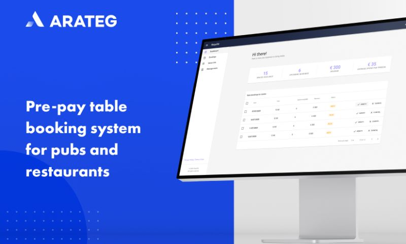 Arateg - Online table booking system for cafes and restaurants
