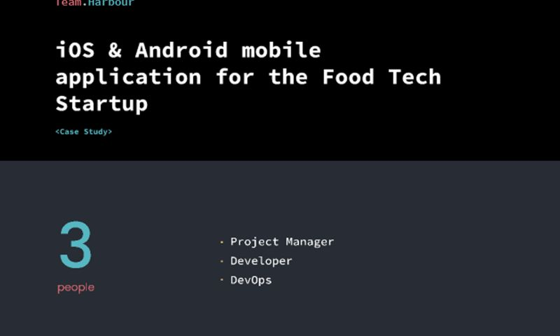 Team.Harbour - iOS & Android mobile application for the Food Tech Startup
