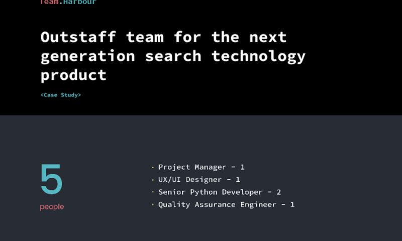 Team.Harbour - Team for the next generation search technology product