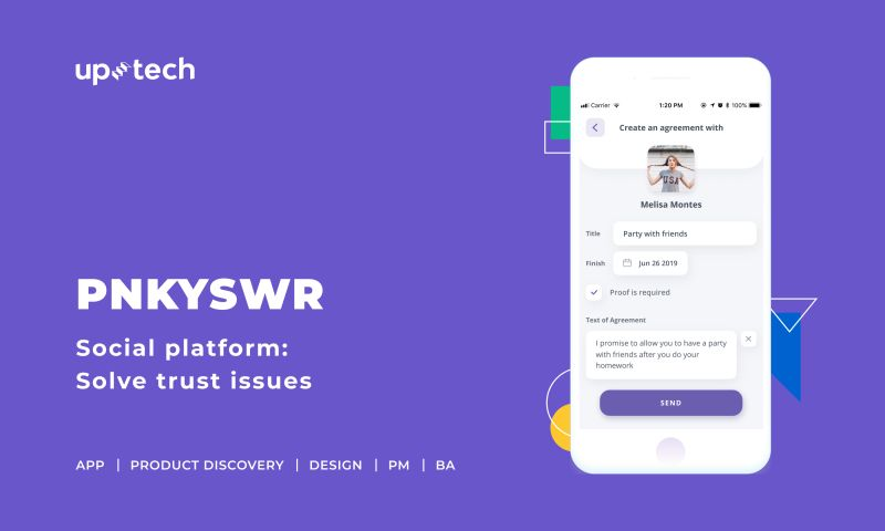 Uptech - PNKSWR - social platform