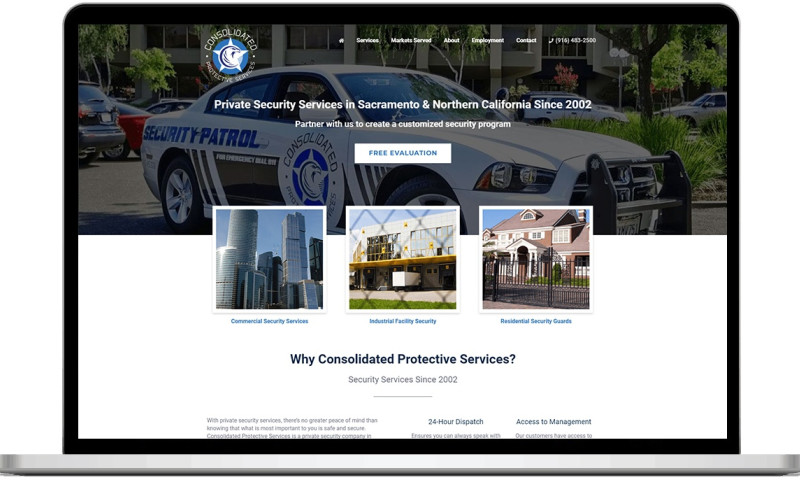 Lead to Conversion - Consolidated Protective Services - Responsive Website Design