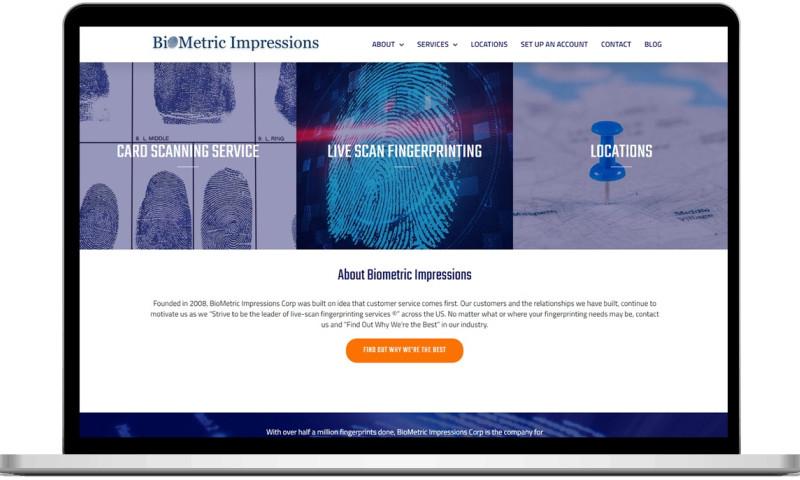 Lead to Conversion - Biometric Impressions - Responsive Website Design