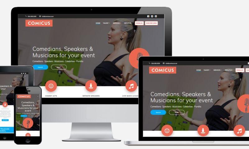 White Rabbit Consultancy - Entertainment Agency Website Design