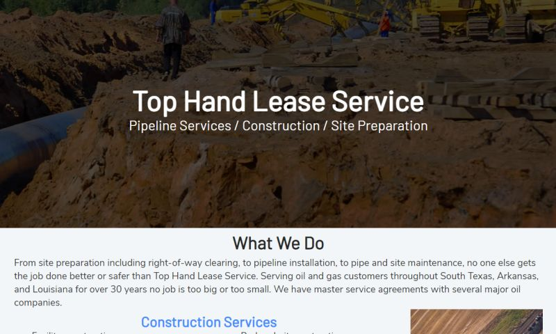 Williams Web Solutions - Top Hand Lease Service