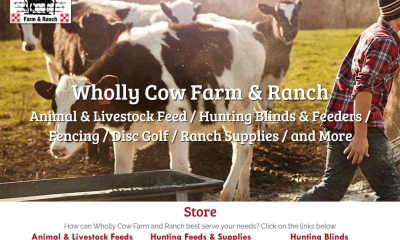 Williams Web Solutions - Wholly Cow Farm & Ranch