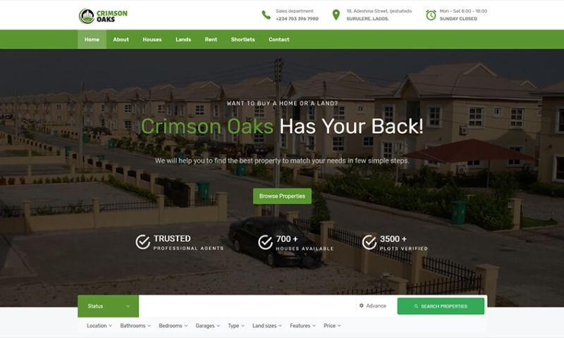 Tech O'Clock - Crimson Oaks Real Estate Website