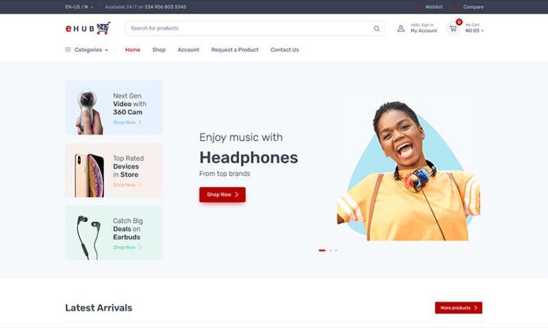 Tech O'Clock - eHUB24/7 Ecommerce Website