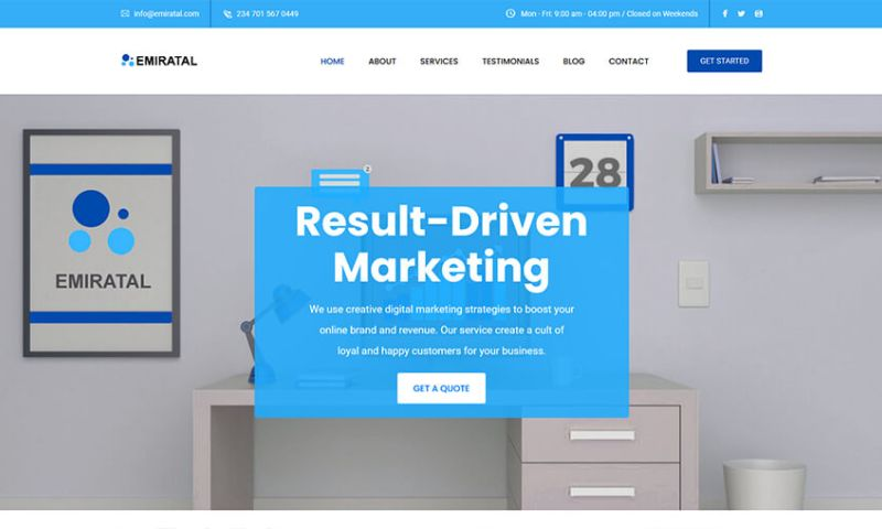Tech O'Clock - Emiratal Digital Marketing Website