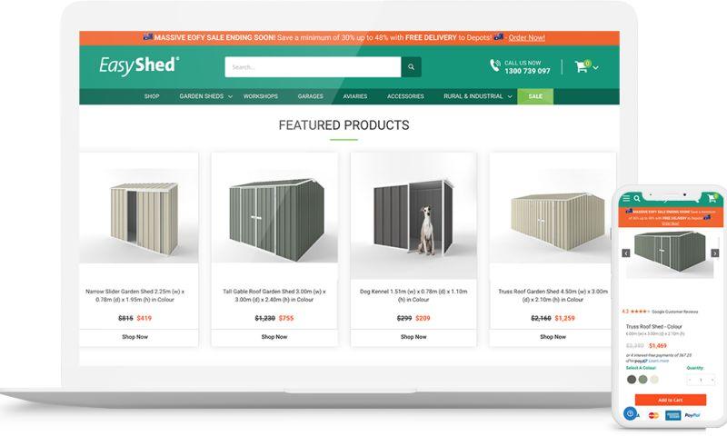 Vnited - Magento e-Commerce – Garden sheds