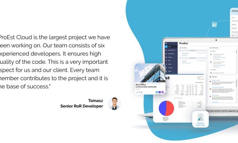 Railwaymen - ProEst - Cloud Based Construction Web App