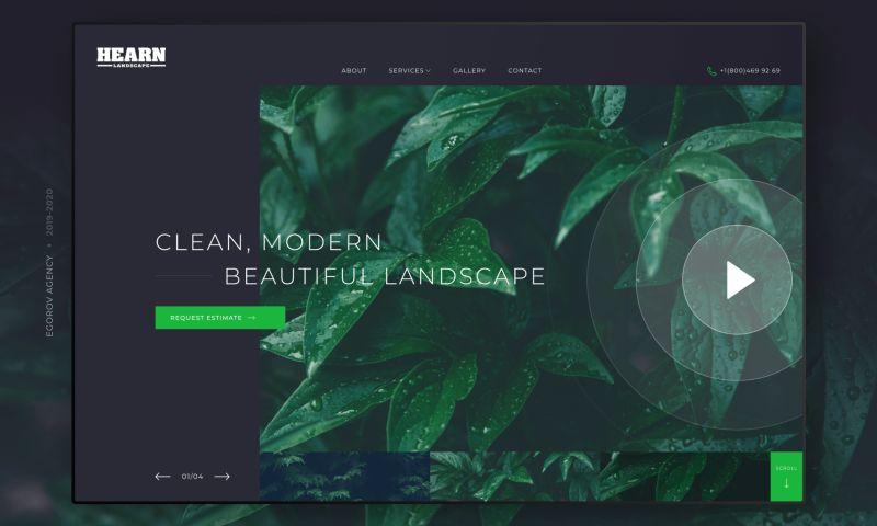 Egorov Agency - Hearn Landscape   Corporate website