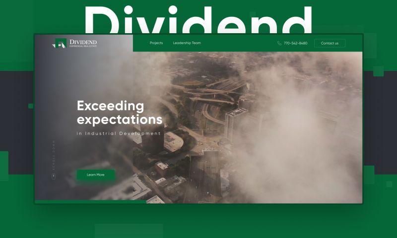 Egorov Agency - Dividend   Landing page