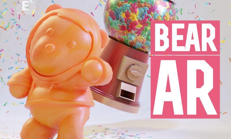 Egorov Agency - AR bear for Ozunas song promotion