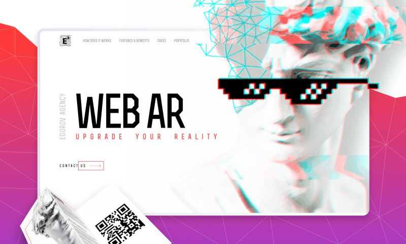 Egorov Agency - WebAR   Landing page