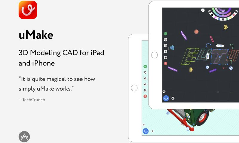 Exyte - uMake – 3D Modeling CAD for iPad and iPhone