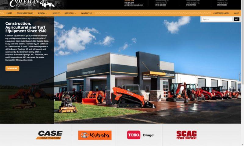 emfluence - Coleman Equipment Website Relaunch