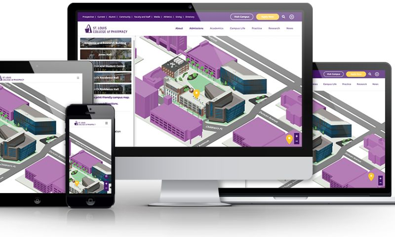Beanstalk Web Solutions - St. Louis College of Pharmacy Interactive Campus Map