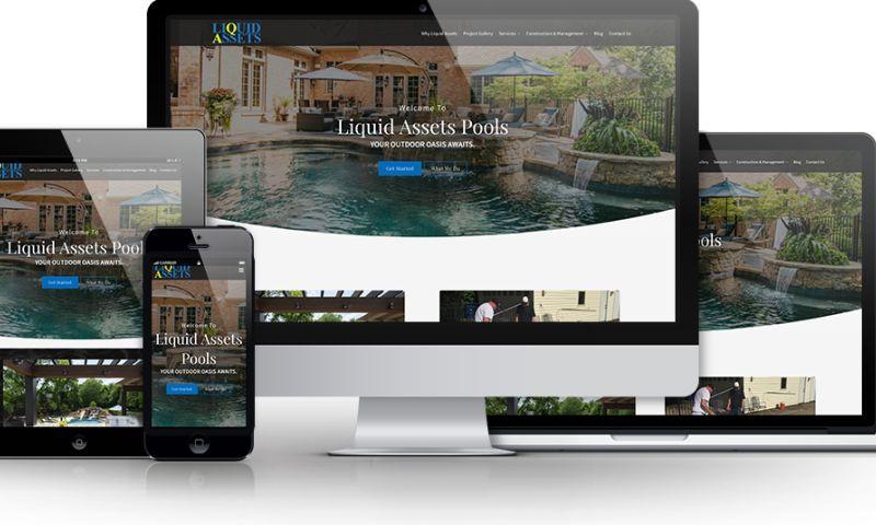 Beanstalk Web Solutions - Liquid Assets Pools Website