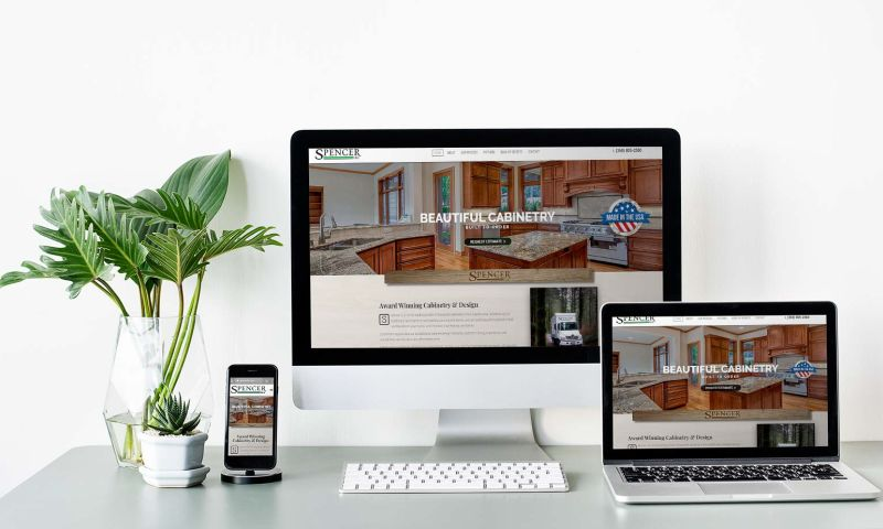HyperX Design - Custom Web Development & SEO Services (Spencer Cabinetry)