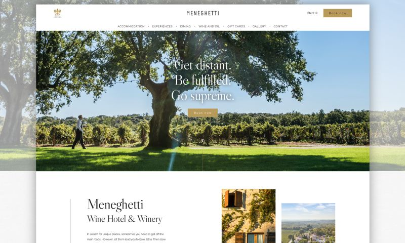 Lloyds Design - Website for The Luxurious Meneghetti Wine Hotel and Winery