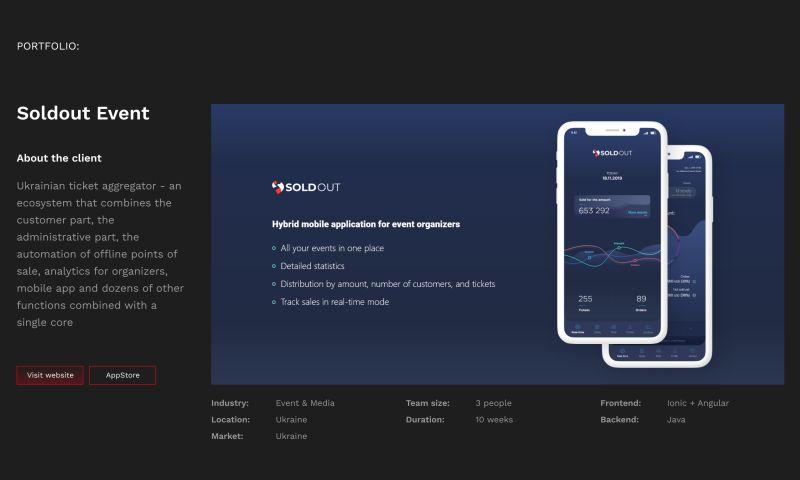 Simplify - Soldout Event App
