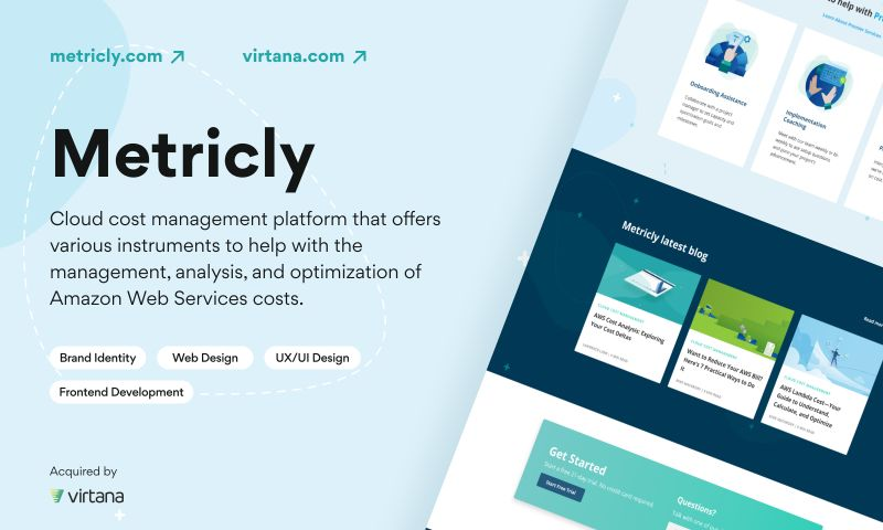 Arounda - Metricly acquired by Virtana   Web Design, UX/UI Design for Analytic Web App