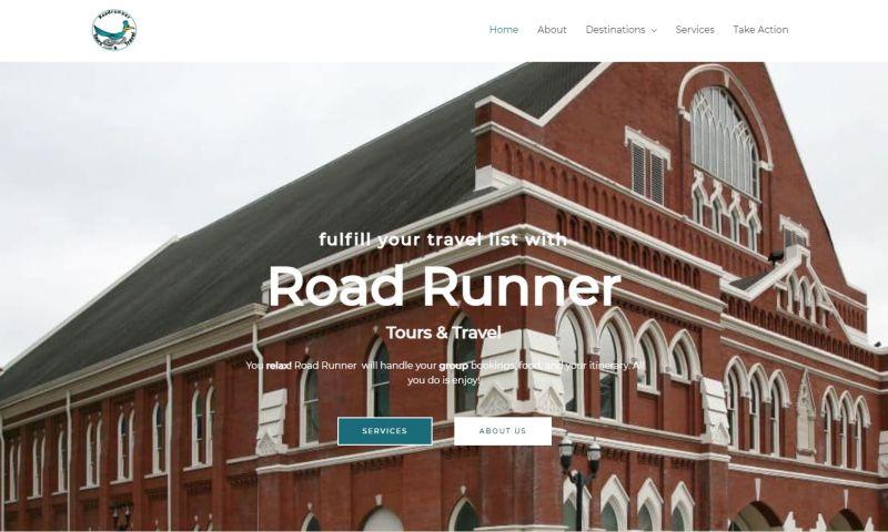 M.J. Web Design - Road Runner Tours & Travel